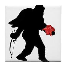 Valentine Sasquatch Tile Coaster
