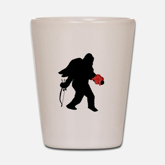 Valentine Sasquatch Shot Glass