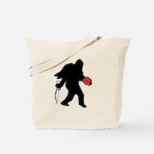 Valentine Sasquatch Tote Bag