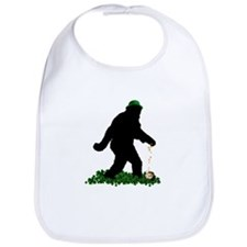 Lucky St Patricks Day Sasquatch Bib