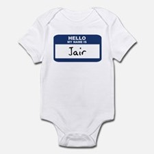 Hello: Jair Infant Bodysuit
