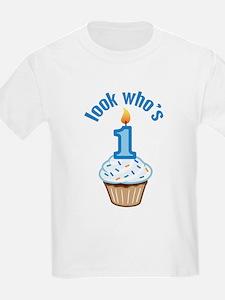 First Birthday - Cupcake (Boy) T-Shirt