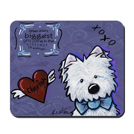 Westie Wall Mousepad