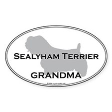 Sealyham GRANDMA Oval Decal