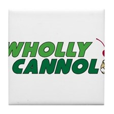 Wholly Cannoli Tile Coaster