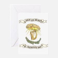 Erin Go Bragh Sunrays on Harp Greeting Card