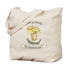 Erin Go Bragh Sunrays on Harp Tote Bag