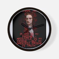 Plato Is My Friend - Isaac Newton Wall Clock