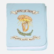 Sons of Erin Sun Rays Harp baby blanket