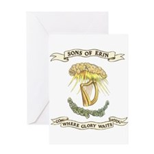 Sons of Erin Sun Rays Harp Greeting Card