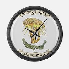 Sons of Erin Sun Rays Harp Large Wall Clock