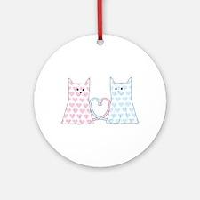 Cats in Love Ornament (Round)