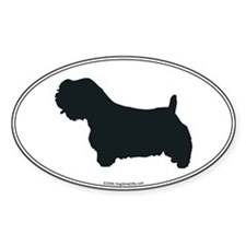 Sealyham Silhouette Oval Decal