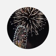 "Fireworks Over Fairground Print 3.5"" Button"