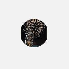 Fireworks Over Fairground Print Mini Button