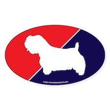 UK Flag Sealyham Terrier Oval Decal