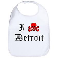 I Skull Detroit Bib