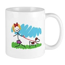 Little Girl and Dog Drawing Mug
