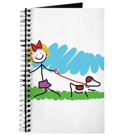 Little Girl and Dog Drawing Journal