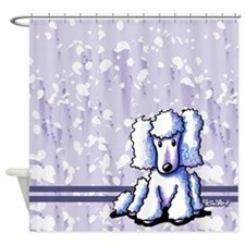 White Poodle Shower Curtain