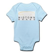Midtown Brass Logo White Body Suit