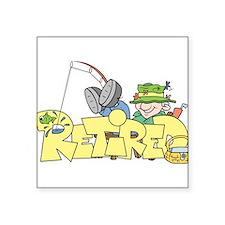 Retired Rectangle Sticker