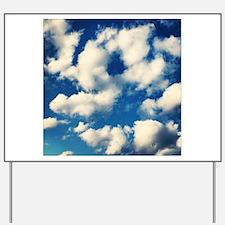 Fluffy Clouds Print Yard Sign