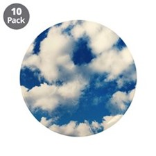 """Fluffy Clouds Print 3.5"""" Button (10 pack)"""