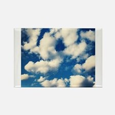 Fluffy Clouds Print Rectangle Magnet