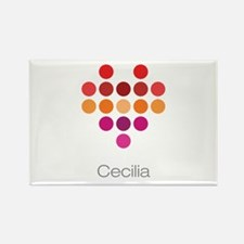 I Heart Cecilia Rectangle Magnet