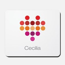 I Heart Cecilia Mousepad