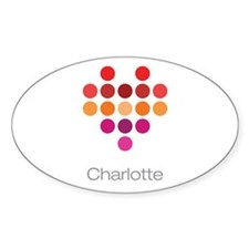 I Heart Charlotte Decal