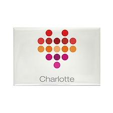 I Heart Charlotte Rectangle Magnet