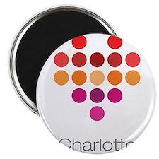 """I Heart Charlotte 2.25"""" Magnet (100 pack)"""