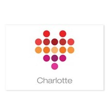 I Heart Charlotte Postcards (Package of 8)