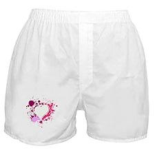 Splattered Heart Boxer Shorts