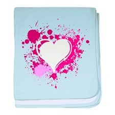 Splattered Heart baby blanket