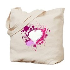 Splattered Heart Tote Bag