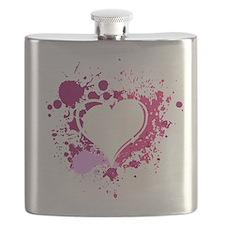 Splattered Heart Flask