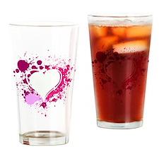 Splattered Heart Drinking Glass