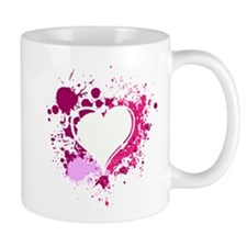Splattered Heart Mug