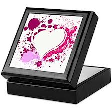 Splattered Heart Keepsake Box