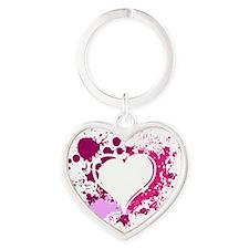 Splattered Heart Heart Keychain