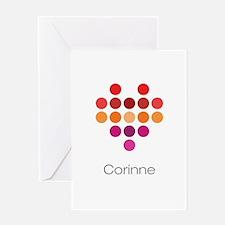 I Heart Corinne Greeting Card