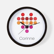 I Heart Corinne Wall Clock
