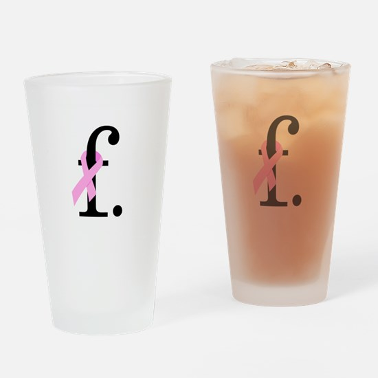 F. Breast Cancer Drinking Glass