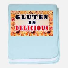 Gluten is Delicious baby blanket