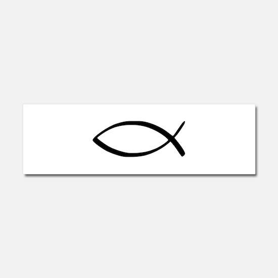 Cute Christian fish Car Magnet 10 x 3