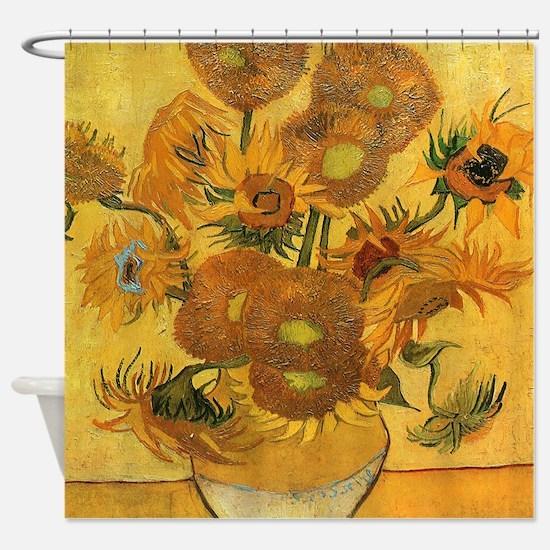 Sunflowers by Van Gogh Shower Curtain