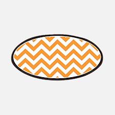Orange and White Chevron Patches